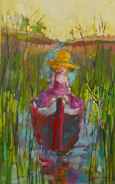 under blue, amongst the reeds